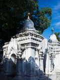 Kuthodaw Pagoda Mandalay, Myanmar stock photography