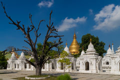 The Kuthodaw Pagoda in Mandalay Royalty Free Stock Photo