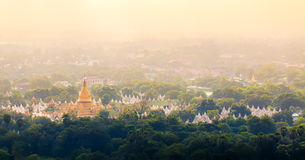 Kuthodaw Pagoda is the World's Biggest Book (Stone Library). Man Stock Photography