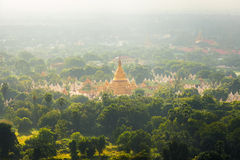 Kuthodaw Pagoda is the World's Biggest Book (Stone Library). Man Stock Images
