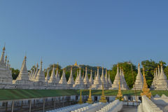 Kuthodaw Pagoda - world's largest book. Unusual pagoda in the north of Mandalay, Burma Royalty Free Stock Photos