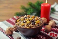 Kutia in ceramic bowl Stock Images
