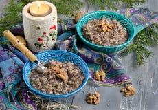 Kutia, plat traditionnel de Noël en Ukraine photo libre de droits