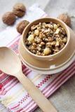 Kutia - pudding doux de grain, le premier plat traditionnel du dîner de réveillon de Noël dans oriental - pays européens Photo stock