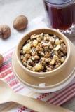 Kutia - pudding doux de grain, le premier plat traditionnel du dîner de réveillon de Noël en Europe de l'Est Images libres de droits