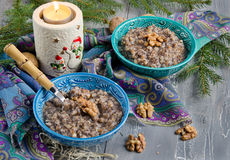 Kutia, traditional Christmas dish in Ukraine Royalty Free Stock Photo