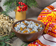 Kutia - traditional Christmas sweet meal in Ukraine, Belarus and Stock Photos
