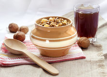 Kutia - traditional pudding  dish for Christmas served in Eastern Europe Royalty Free Stock Image
