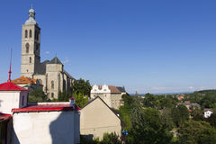 Kutná hora panorama with St.James Church Stock Image