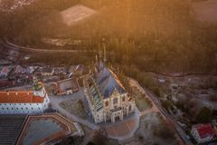 Kutna Hora is city from 12 century stock photo