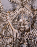 Kutna Hora, Czech Republic - March 19, 2017: Interior of the Sedlec ossuary Kostnice decorated with skulls and bones Stock Image