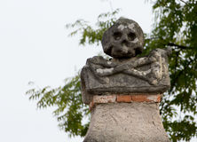 Kutna Hora, République Tchèque - 19 mars 2017 : Intérieur de l'ossuaire Kostnice de Sedlec décoré des crânes et des os Photos stock