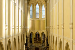 KUTNA HORA, SEDLEC, CZECH REPUBLIC - Nave of the Cathedral of Assumption of Our Lady and Saint John the Baptist on Church is UNE stock images