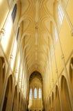 KUTNA HORA, SEDLEC, republika czech - Nave katedra wniebowzięcie Nasz dama John święty i baptysta na kościół jest UNE Obraz Stock