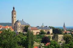 KUTNA HORA, TSJECHISCHE REPUBLIEK - 21 JULI, 2017: Mening van de Kerk van St James Centrale Bohemen Czech, Europa Stock Foto