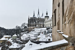 Kutna Hora in Winter Royalty Free Stock Image