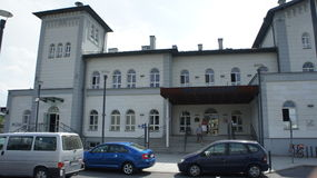 Kutno, σταθμός τρένου της Πολωνίας Στοκ εικόνες με δικαίωμα ελεύθερης χρήσης