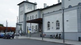 Kutno, σταθμός τρένου της Πολωνίας Στοκ Φωτογραφία