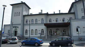 Kutno, Poland train station. The Kutno, Poland train station stock photos