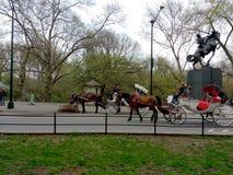 Kutschfahrten im Central Park, NYC, NY, USA Stockfoto