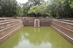 Kuttam Pokuna (twin ponds) in Anuradhapura. Sri Lanka stock photo