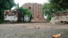 In kutumbminar. History of Indian stock photo