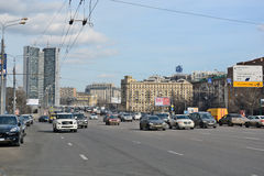 Kutuzov Avenue in Moscow Russia Royalty Free Stock Images