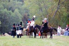 Kutuzov on the battle field. Royalty Free Stock Image
