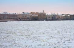 Kutuzov Embankment and Neva river, St. Petersburg Stock Images