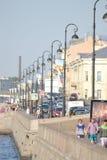 Kutuzov Embankment of Neva River Royalty Free Stock Image