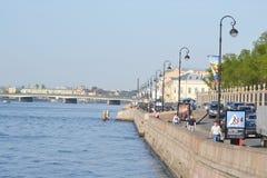 Kutuzov Embankment of Neva River Stock Photos