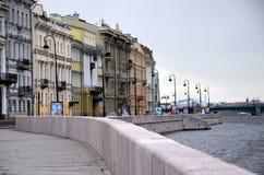 Kutuzov embankment, Saint-Petersburg Royalty Free Stock Images