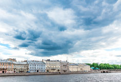 Kutuzov embankment in St. Petersburg Royalty Free Stock Images