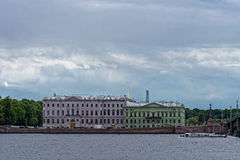 Kutuzov embankment in St. Petersburg Royalty Free Stock Photography