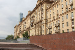 Kutuzovskyvooruitzicht Flatgebouw 32 Stock Afbeelding