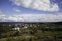 Kuujjuaq city. A view of kuujjuaq city in nunavik, Québec,canada Royalty Free Stock Photography