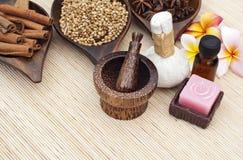 Kuuroord en aromatherapy stock afbeelding