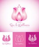 Kuuroord en het embleem eps van de wellnesslotusbloem Royalty-vrije Stock Afbeeldingen