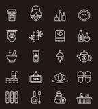 Kuuroord en wellnesspictogrammen Royalty-vrije Stock Afbeelding