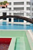 Kuuroord met pool Royalty-vrije Stock Afbeeldingen