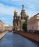 Kuuroord-Na-Krovikathedraal in heilige-Petersburg stock foto's
