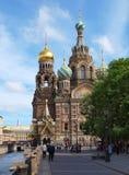 Kuuroord-Na-Krovikathedraal in heilige-Petersburg royalty-vrije stock foto's