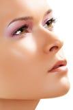 Kuuroord, wellness, huidzorg. Close-up van schoonheidsgezicht Stock Afbeeldingen