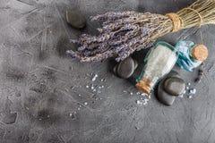 Kuuroordbehandeling - lichaamsverzorging Lavendel Aromatherapy Stock Fotografie