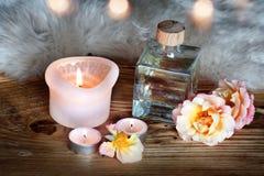 Kuuroorddecoratie met aromatische olie stock foto