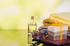 Kuuroordproducten voor gezichts en lichaamsverzorging Stock Foto's