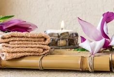KUUROORDsamenstelling met magnolia stock foto's
