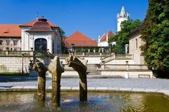 Kuuroordstad Teplice, Bohemen, Tsjechische republiek, Europa stock foto