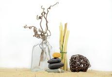 Kuuroordstenen met zand Stock Afbeeldingen