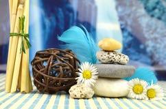 Kuuroordstenen zen Stock Foto